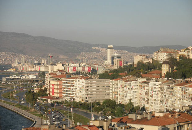 Izmir (Smyrna) from Asensor, where the book begins
