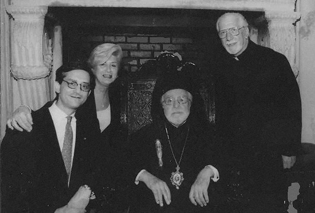 George S. Tsandikos with mother, Presvytera Joanna, Archbishop Iakovos and father, Fr. Solon S. Tsandikos