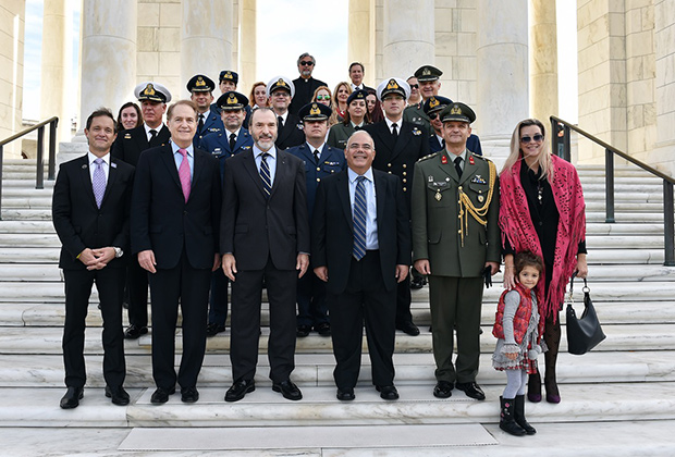 The Oxi Day Foundation at Arlington National Cemetery, PHOTO BY: BILL PETROS