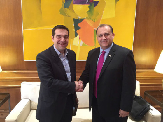 With Greek Prime Minister Alexis Tsipras