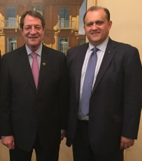 With President of the Republic of Cyprus Nicos Anastasiades