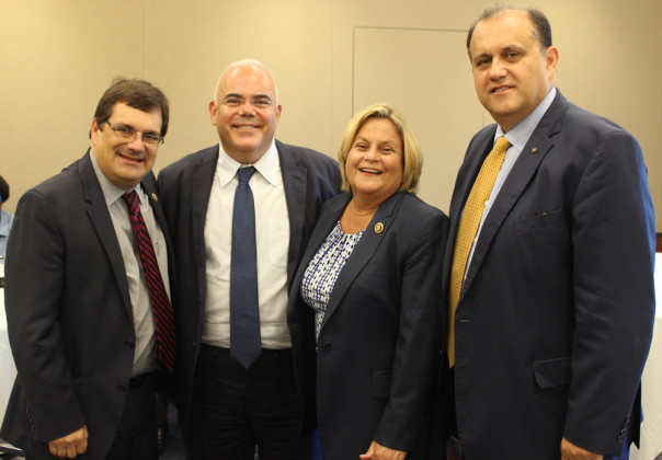 With co-chair of the Hellenic Caucus Congressman Gus Bilirakis, Ambassador George Chacalli of Cyprus, and House Foreign Affairs Committee member Congresswoman Ileana Ros-Lehtinen