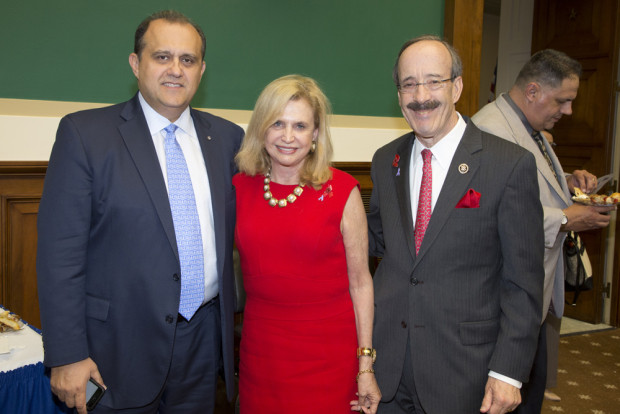 With co-chair of the Hellenic Caucus Congresswoman Carolyn Maloney and Ranking Member of the House Foreign Affairs Committee Congressman Eliot Engel