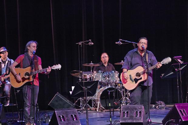 From left: Steve Tesser, Miltos Paschalidis, Philippos Spyropoulos, Lavrentis Machairitsas, Photo Anastassios Mentis