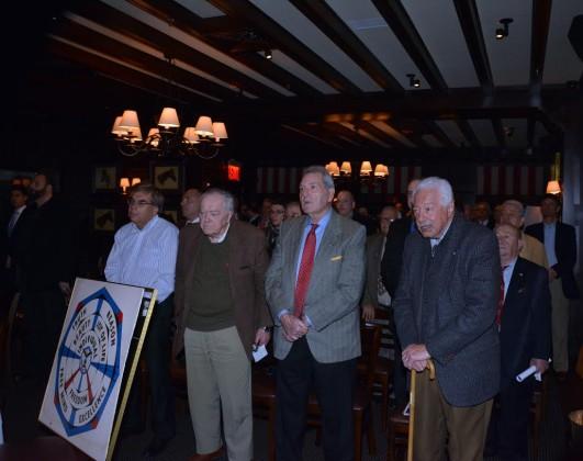Former Delphi Chapter Presidents, Judge Nicholas Tsoucalas, Dr. Marinos Petratos, Khristos Karastathis and Richard Duignant