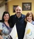 From left, Petros Gregoriou (Treasurer), Penny Phytides (Secretary), Philip Phytides (President), Joanne Kouros (Co-treasurer), Andrew Panayiotou (Vice President)