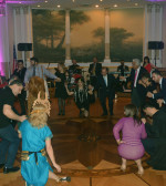 "Heads of all NY Professional Societies opened glendi dancing ""Pos to trivoun to piperi (How you grind the pepper)"" while rubbing their body parts to the floor, PHOTO: ETA PRESS"