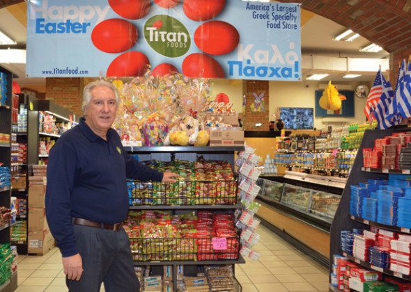 Kostas Mastoras, owner and founder of Titan Foods
