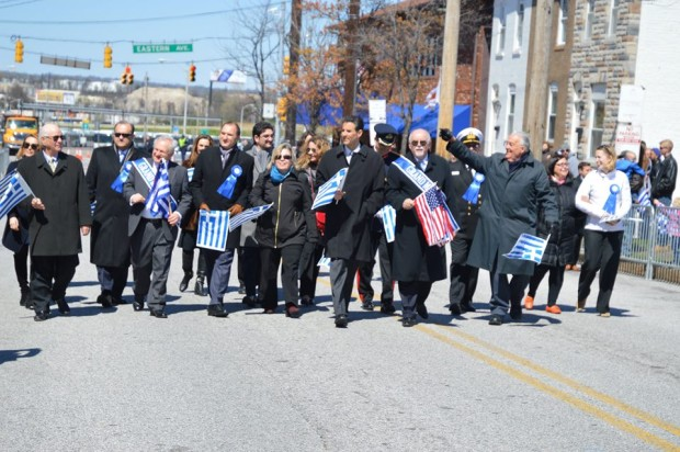Grand Marshals and Dignitaries marching at the parade