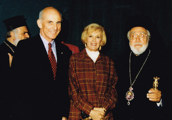 Michael & Kay Johnson with the late Archbishop Iakovos
