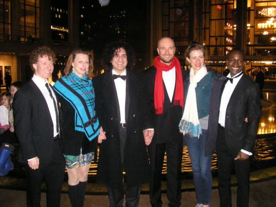 Left to right : Conductor Jestin Pieper, soprano Viktoriya Koreneva, composer Panagiotis Karousos, tenor Demetrios John Tsinopoulos, soprano Elisabeth Shoup, and bass Kofi Hayford.