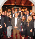 Bareburger co-founder and Chief Operating Officer, Jimmy Pelekanos with Cypriot Young Professionals, PHOTOS: ETA PRESS