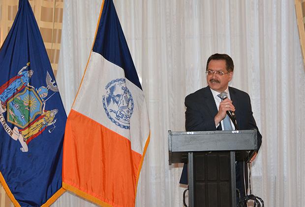 Lou Katsos, the Colonel's successor as AHI New York Chapter President, PHOTOS: ETA PRESS