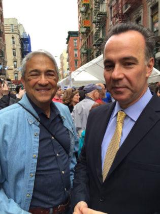 Consul General of Greece Konstantinos Koutras (right) with Joel Negrin, PHOTO: MARCIA HADDAD IKONOMOPOULOS