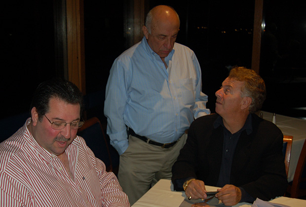 Chapter President John Levas, Tom Gordianos, Paul Macropoulos, PHOTOS: ETA PRESS