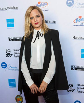 Mena Suvari, hostess of the Orpheus Awards