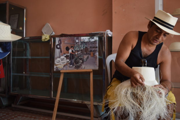 Freddy Pachay, a Government of Ecuador Certified Artisan is a third generation craftsman who makes fine hats that are sold in various countries, PHOTO: RICKIE BARTH