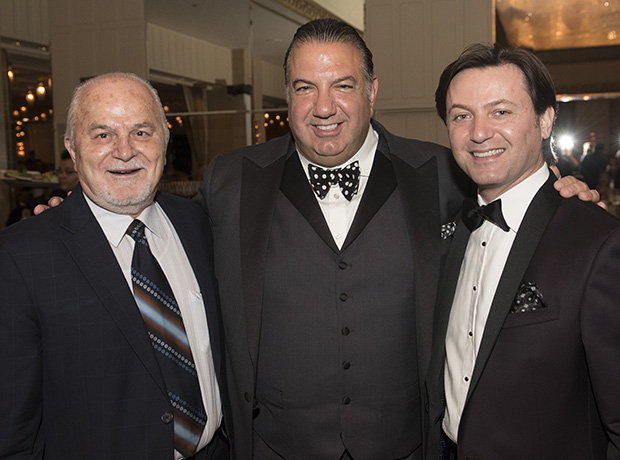 Dr. Thanasis Economou, 2009 Paradigm Award Honoree and NASA Senior Planetary Scientist, John S. Koudounis, and Yanni Valsamas