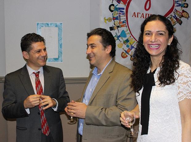 Dr. Kostis Sofokleous, Bill and Alexia Mihas