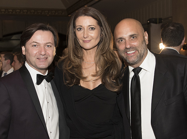 Yanni Valsamas, Executive Director of the Foundation, with Anna Davlantes and her husband, David Gamperl