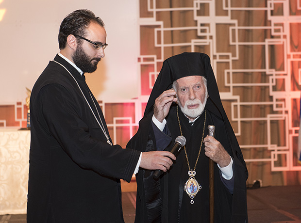 Rev. Fr. Sotirios P. Malamis and His Eminence Metropolitan Iakovos of Chicago