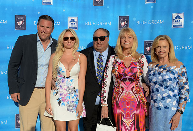From left, Ben Richman, Andrea, John and Margo Catsimatidis, Rep. Carolyn Maloney