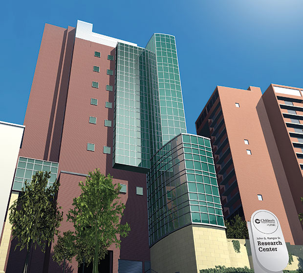 The new Rangos Research Center at Children's Hospital of Pittsburgh will help meet the city's growing demand for more research space.