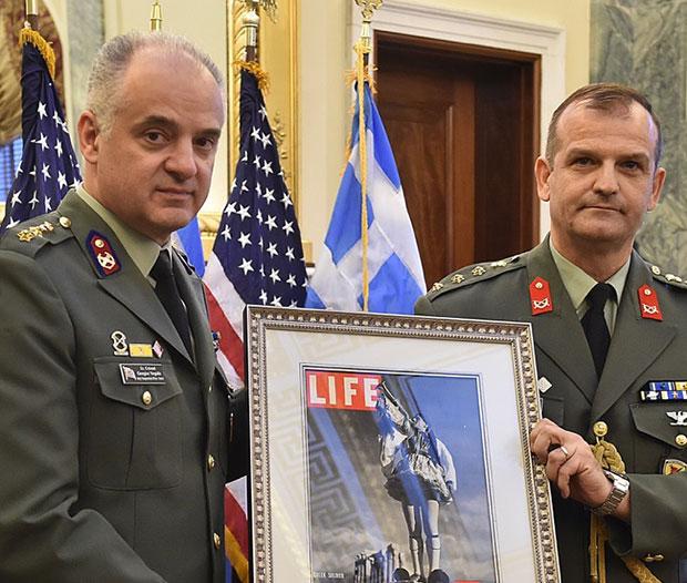 Lt. Col. George Vergidis and Col. Panagiotis Kavidopoulos