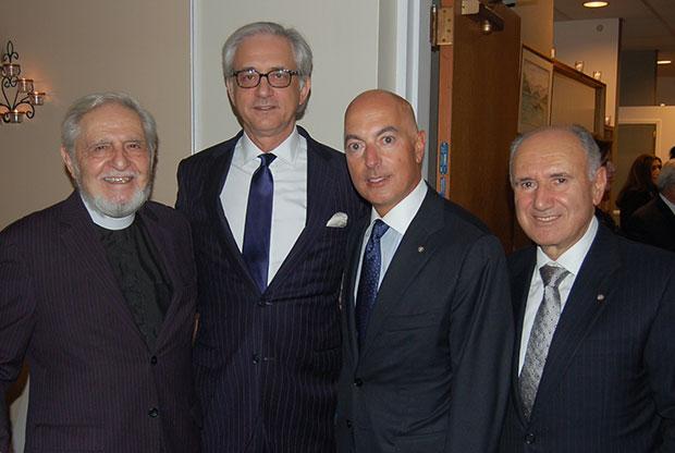 Rev. Robert Stephanopoulos, George Tsandikos, Chairman Leadership 100, Michael Psaros and Markos Marinakis