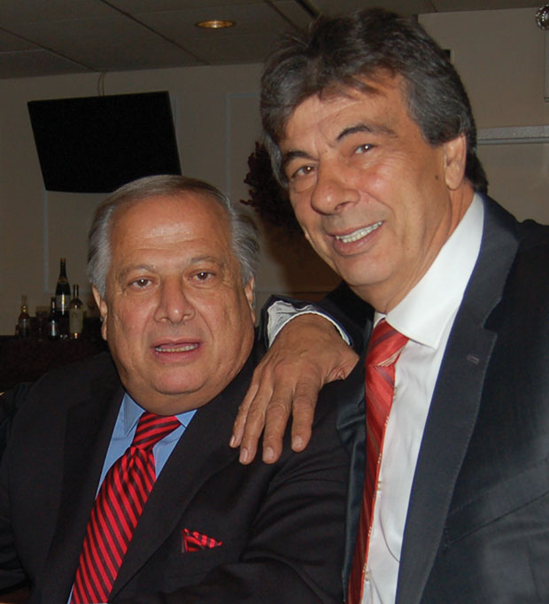 Philip Christopher, President of PSEKA, with Nikos Fillas