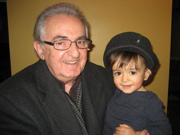 Dino Pavlou with his grandson