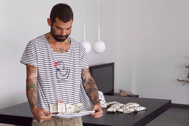 "Vasilis Douros, founder of ""Snob Duck"" handmade soaps"