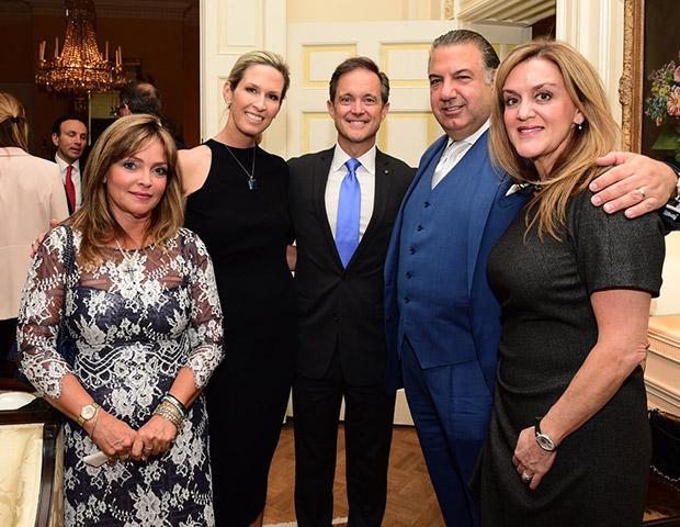 From left, Nancy Papaioannou, Atlantic Bank President; Laura and Mike Manatos; John & Joanne Koudounis, PHOTO: GANP/DIMITRIOS PANAGOS