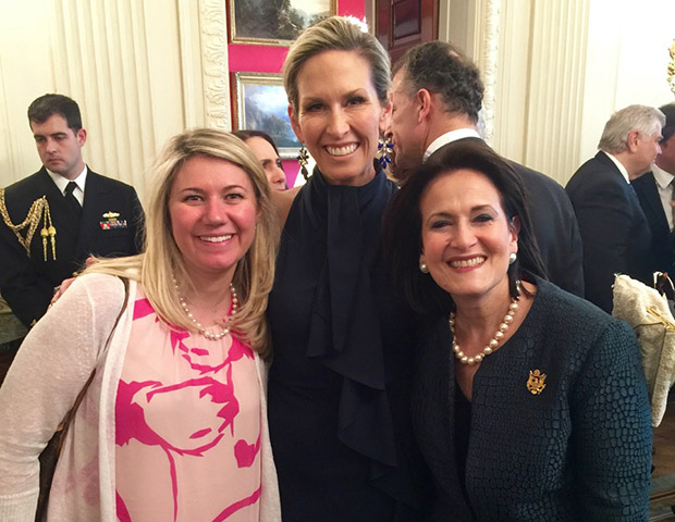 Former Chief of Staff to First Lady Laura Bush Anita McBride with Laura and Dana Manatos