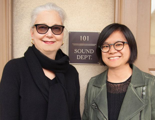 Sound Engineer and Oscar Nominated Mildred Iatrou Morgan with colleague Ai-Ling Lee