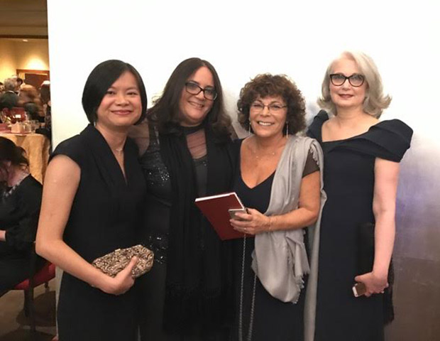 Members of the sound crew attending the Oscars: Ai-Ling Lee, Galen Goodpaster, Teri Dorman, and Mildred Iatrou