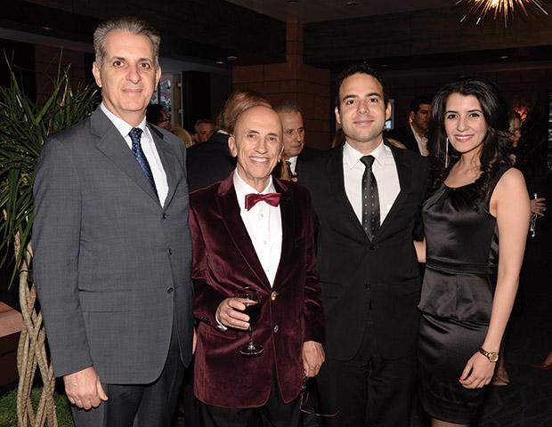 From left, Greek Consul General Gregory Karahalios, Dr. Menas Kafatos, AJC-LA Regional Director Siamak Kordestani, and Niloufar Esfandi, PHOTO: ALLEN ALTCHECH