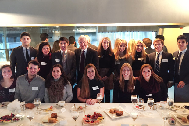 FAITH Founder and Scholarship Review Committee Chair Dr. P. Roy Vagelos hosted the first Scholars Luncheon in New York City