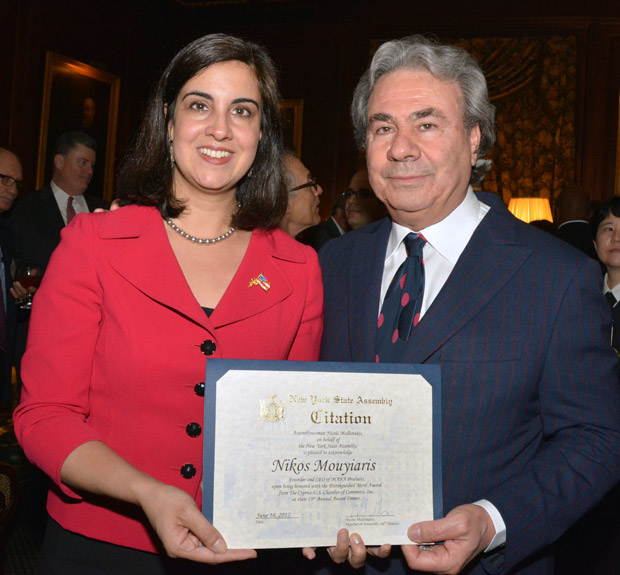 Nikos with NY Assemblywoman and candidate for mayor Nicole Malliotakis, PHOTO: ETA PRESS