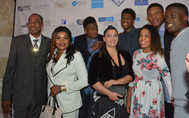 The Antetokounmpo family with friends. Photo ETA Press