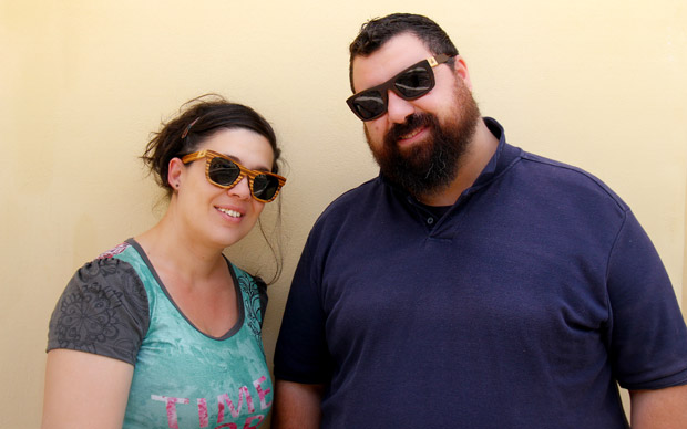 Pericles & Eleni, creators of Zylo Eyewear in Syros