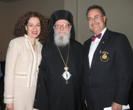 The Velivasakises with Archbishop Demetrios of America