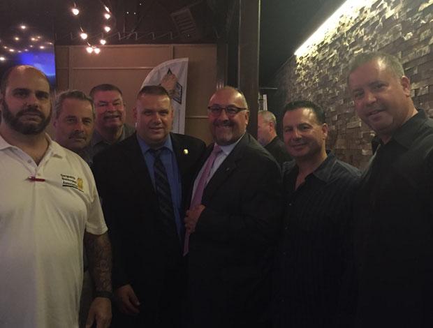 SBA Board Members, from left Anthony Borelli, Ed Conroy, Ed Geary, Bill Craven, Gary DeRosa, Jim Gatto, and Joe Ricotta