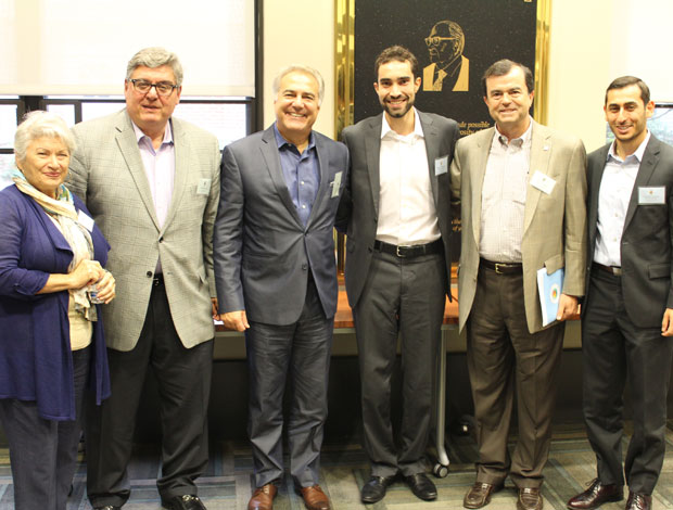 From left: Maria Sharp, President, Lykion Ton Ellinidon Atlanta, Dr. Rom Papadopoulos, Managing Partner, Intuitus Group LLP & Intuitus Capital LLC, Jerry Couvaras, CEO & President, Atlanta Bread Company & Bake One, Alexander Thomopulos, President, National Hellenic Student Association, Jim Logothetis, Partner, Assurance Services, Ernst & Young and Konstantine Ouranitsas, Chairman, National Hellenic Student Association
