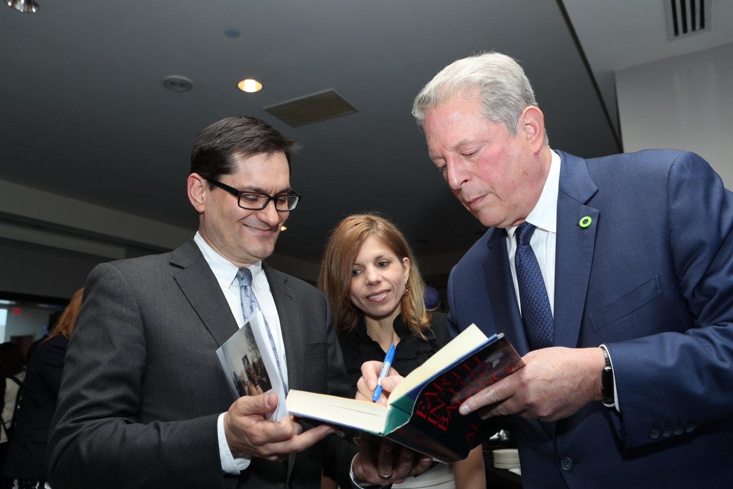 James Cargas, Dr. Dorina Papageorgiou and Vice President Al Gore; photo courtesy of James Cargas