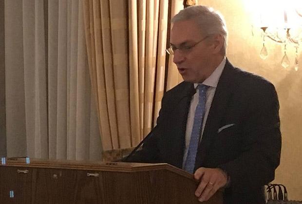 Dr. Anastasios Aslidis introduces the panel
