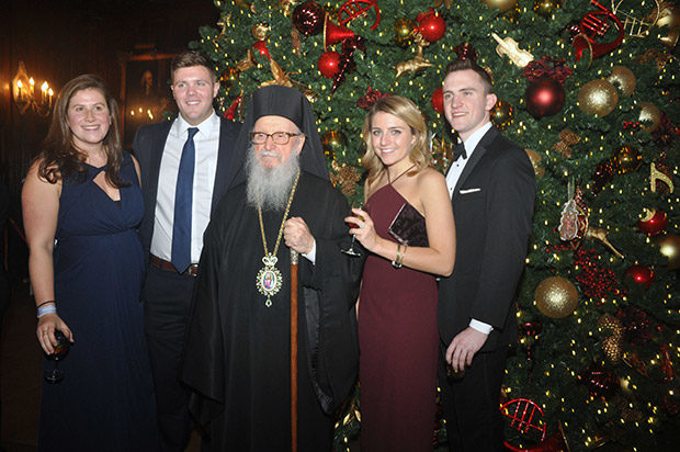 Archbishop Demetrios with parish members