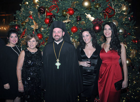 Event Chair Kassandra Romas with Parish Dean, Fr. Chrysostomos Gilbert and parishioners. Photo: ETA PRESS