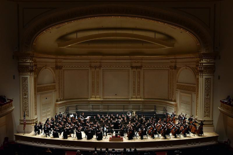 Michael Allard conducts the Harmony Magnet Academy Symphony Orchestra in the Isaac Stern Auditorium as part of MidAmerica's 2017 season of concerts at Carnegie Hall – June 18, 2017