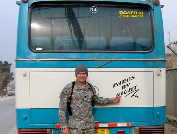 A KTEL bus found in Parwan, Afghanistan